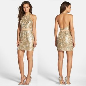 NWT Dress the Population Scarlett' Halter Dress S